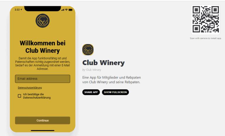 Club Winery App