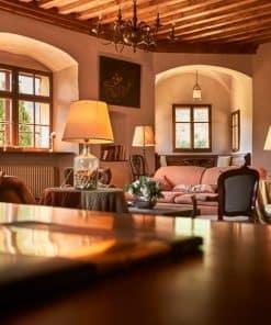 Das mittelalterliche Ambiente im Schloss Englar