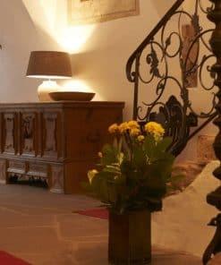 Der Empfangsbereich im Schloss Englar - Club Winery