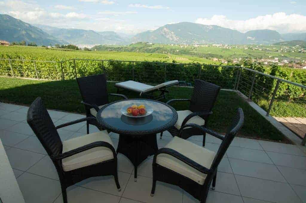 Ferienwohnung mit Aussicht über Weinberge in Südtirol - Oberberghof