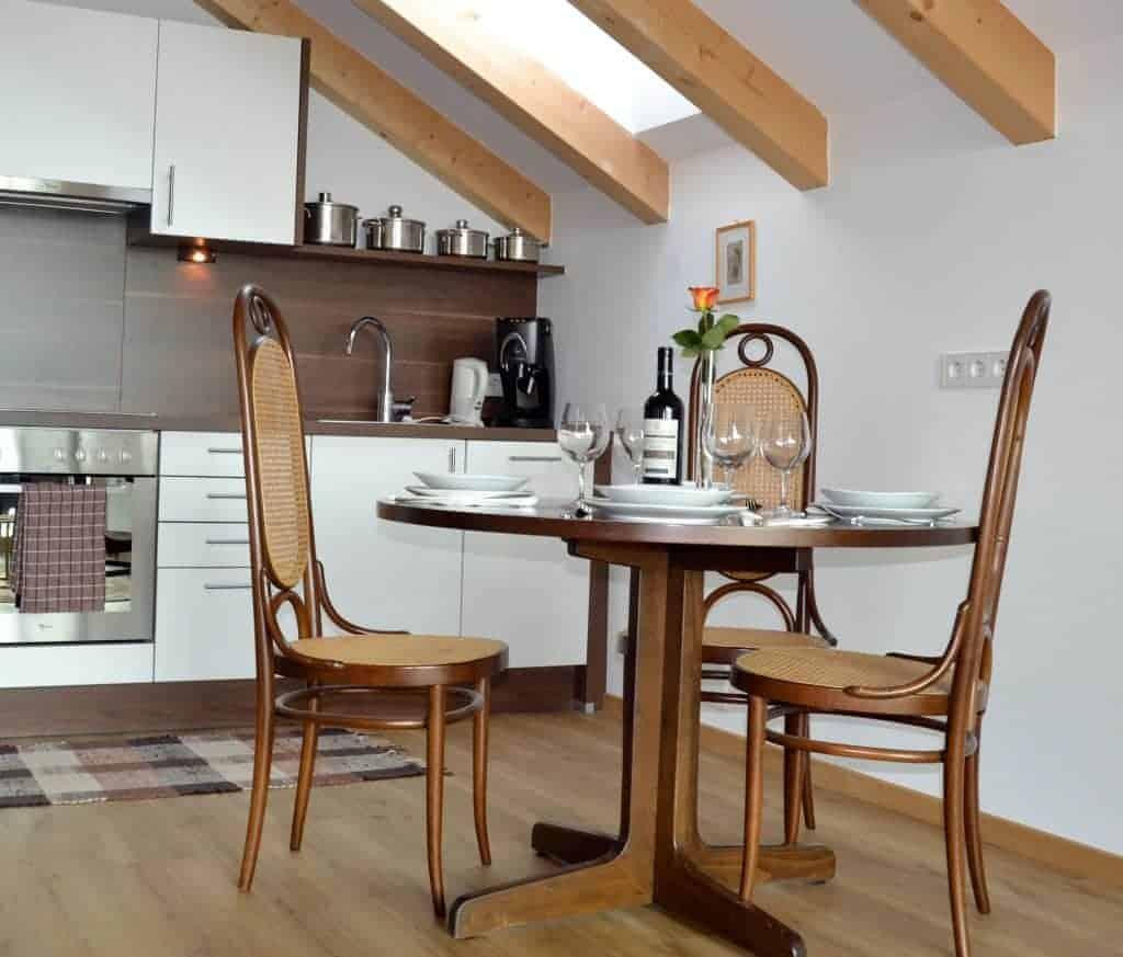 Küche Ferienwohnung Südtirol - Oberberghof