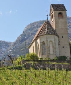 Kapelle St. Sebastian von Schloss Englar an den Hängen des Weingutes - Club Winery Südtirol