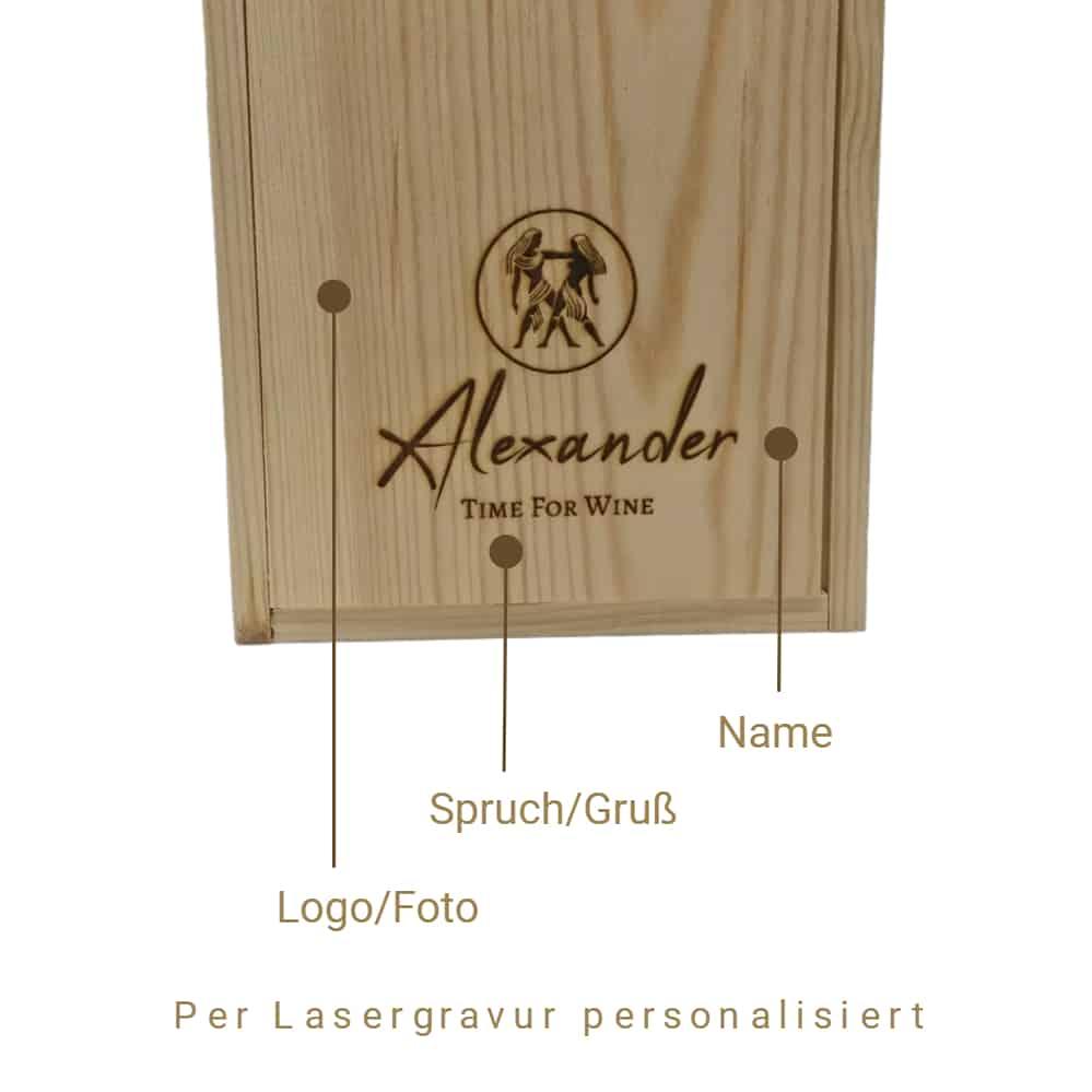 Personalisierte Weinkiste - Beschreibung