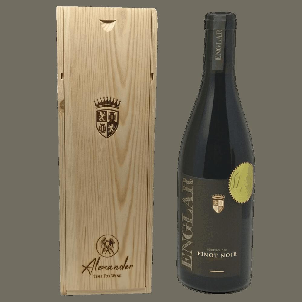 Personalisierte Weinkiste Magnumflasche mit Rebstockpatenschaft