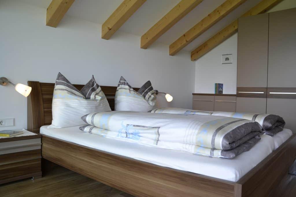Schlafzimmer in Urlaub auf dem Bauernhof - Oberberghof